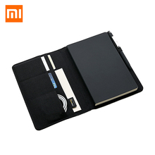 Xiaomi Mijia Smart Kaco благородная бумага черный блокнот из искусственной кожи слот для карт кошелек планировщик книга для путешественника дневник офисные принадлежности