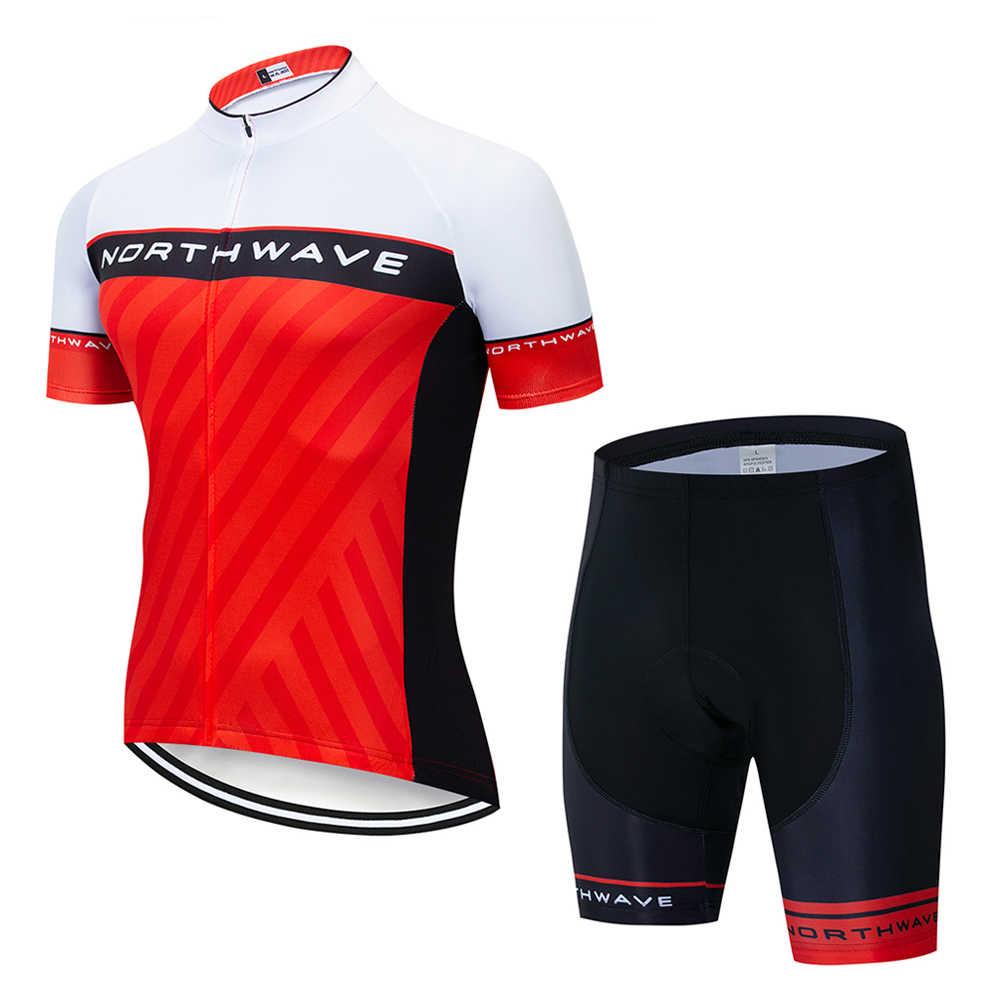 Northwave 2019 NW קיץ קצר שרוול רכיבה על אופניים ג 'רזי סט MTB אופניים ביגוד מהיר יבש אופני בגדי גברים חיצוני ספורט