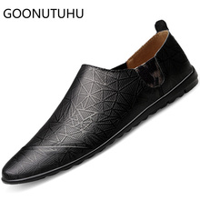 цены 2019 new fashion men's shoes casual genuine leather loafers man black white brown flats shoe male driving shoes for men hot sale