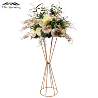 Flower Vases Floor Metal Vase Plant Dried Floral Holder Flower Pot Road Lead Hydrangea for Home/Wedding Corridor Decoration G100