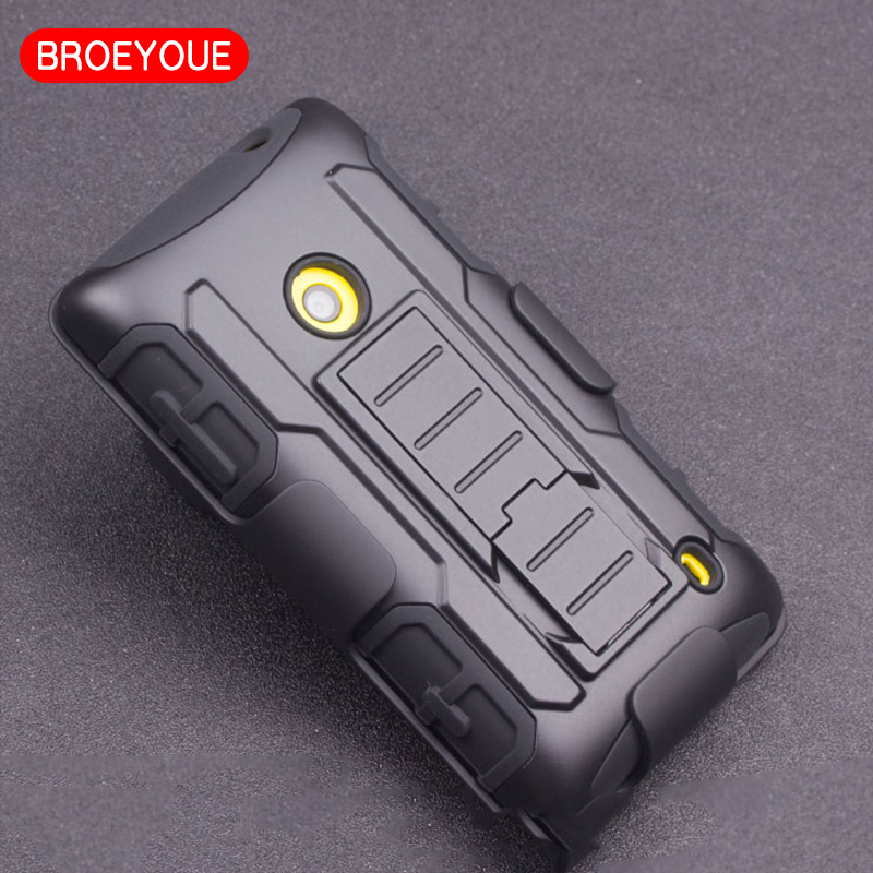 BROEYOUE Case For Nokia Lumia N640XL N640 N635 6N10 N530 N521 N520 N435 Case Hard Cover Belt Clip Kickstand Phone Coque Cases