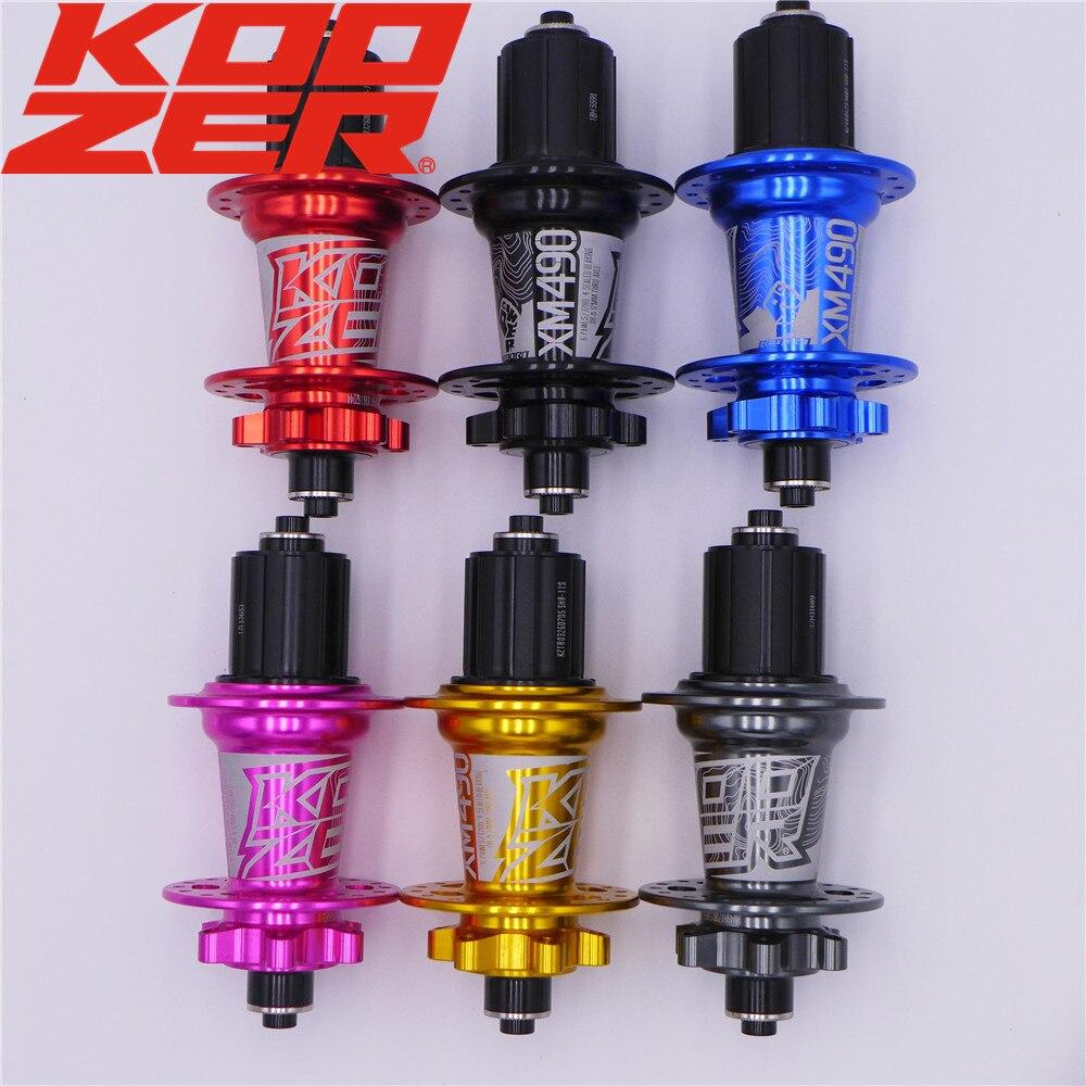 KOOZER XM490 vtt VTT 6 boulon roulement à disque moyeu arrière 135*10 142*12mm QR THRU XD Freehub