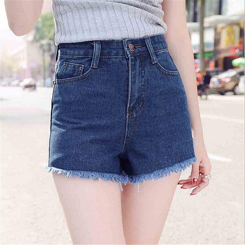 #315 2016 Fashion Womens Loose Burr Flash Boyfriend High Waist Jeans Femme Denim Shorts Women Plus Size S-XL Free Shipping
