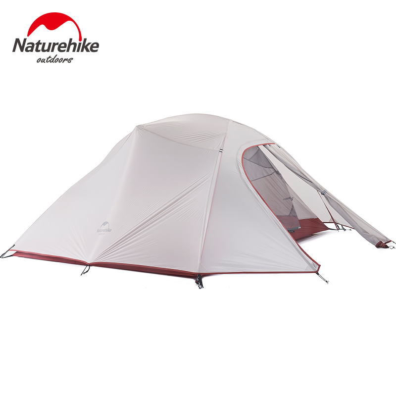 Naturehike палатка 1.8 кг 3 человек 20d силиконовые Ткань двухслойная Палатка Сверхлегкий Открытый палатки кемпинга 4 сезона nh15t003 t