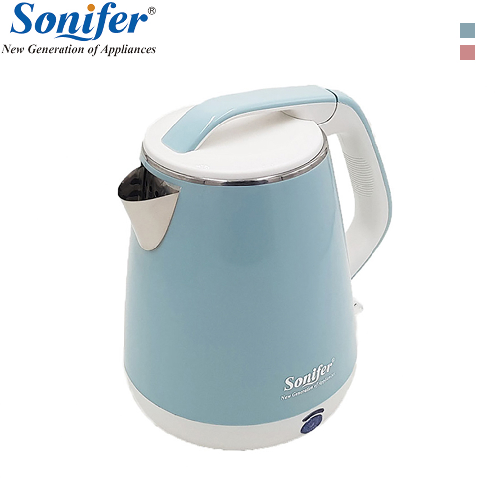 1.8L Colorful Stainless Steel Electric Kettle 1500W Household Quick Heating Electric Boiling Pot Sonifer 1 7l original colorful electric kettle glass 2200w household quick heating electric boiling pot sonifer