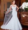 Alice 2017 Nueva Moda de Encaje Sirena Vestido de Novia Más El Tamaño Del Bordado Largo Atractivo de Vestidos de novia vestido De Noiva