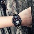 2017 Enmex Retro anchor wooden wristwatch cool skeletons quartz watches cruelty aesthetic creative design genuine leather