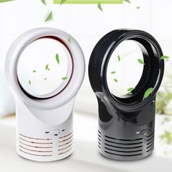 Portable Leafless Fan Ultra-quiet Desktop Air Fan Cooler Floor Fan Low Noise Leafless Fan Mini Desktop Fan for Home Office