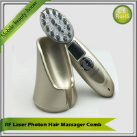 LCD Display 4 IN 1 RF EMS Photon Laser Therapy Hair Growth Regrowth Massager Comb For