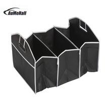 цена на Car Folding Multi-Pocket Organizer Auto Storage Bag Large Capacity Seat Back Bag Box  Black/Blue Waterproof Car styling