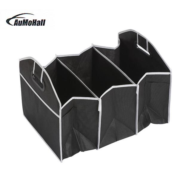 Car Folding Multi-Pocket Organizer Auto Storage Bag Large Capacity Seat Back Bag Box Black/Blue Waterproof Car styling