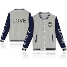 SMZY Lil Peep Baseball Jacket Hoodies Sweatshirt Tops Pullovers Cotton Famous Rap Singer Sweatshirts Men Popular Hip Hop Clothes