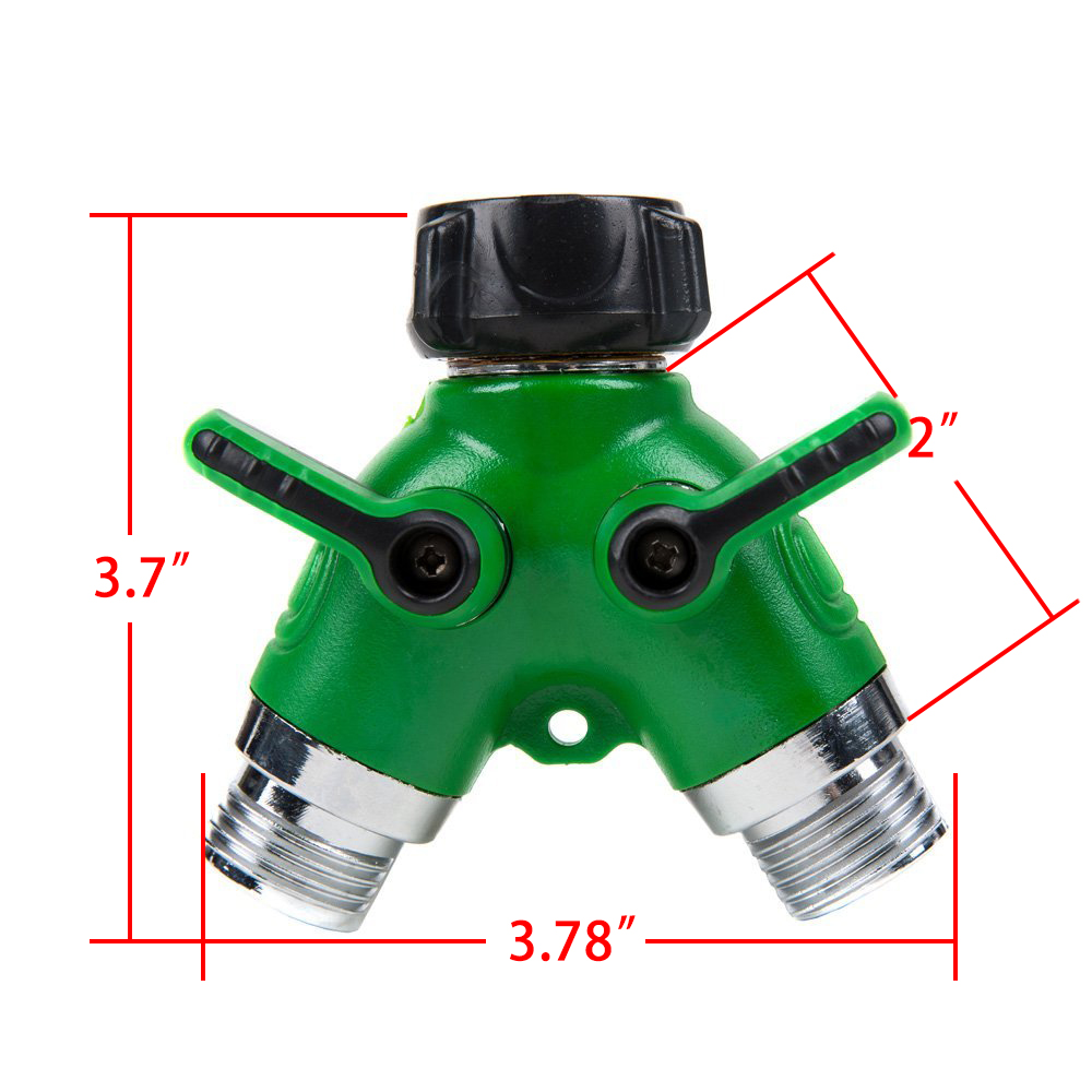 Brass Hose Pipe Splitter 2 Way Quick Connectors Y Shape Garden Tap ...