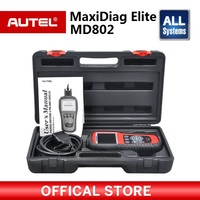 Autel Maxidiag Elite Md802 Full System and Live Data,Oil Service Reset,Epb Auto Diagnostic Scanner with Data Stream Function