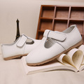 Девушки кожа shoes 2016 осенью новый Корейский принцесса shoes Manufacturing Коровьей девушка shoes, т слово девушка shoes 1-12 летний