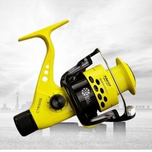 Image 3 - 5.5:1 סליל דיג מתקפל זרוע נדנדה קל אחורי גרור פלסטיק סליל דגי ספינינג גלגלים 2019 חדש דיג סלילי