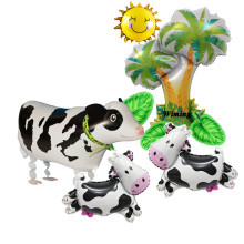 toy cow walking animal balloon baby child children birthday party decorations farm supplies inflatable