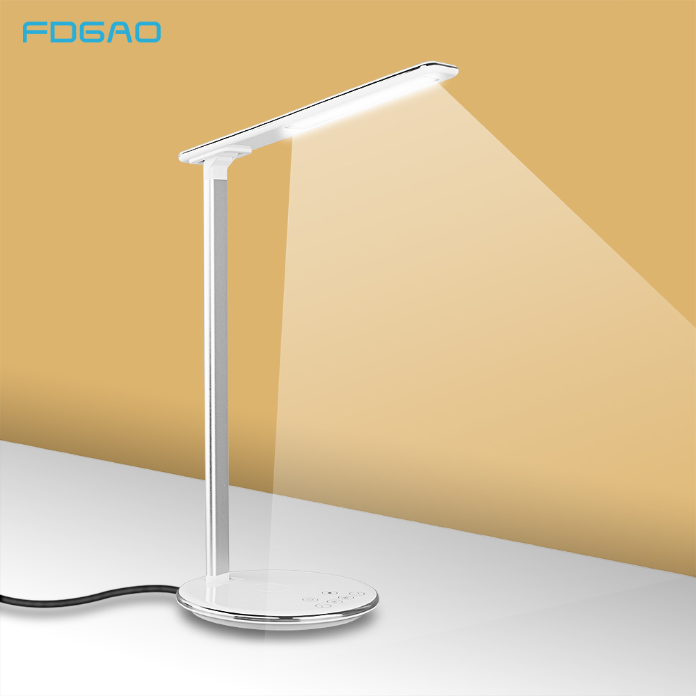 FDGAO LED Foldable Table Lamp Qi Wireless Charger Desktop USB 10W Fast Charging Pad For IPhone XS MAX XR X 8 Plus Samsung S10 S9