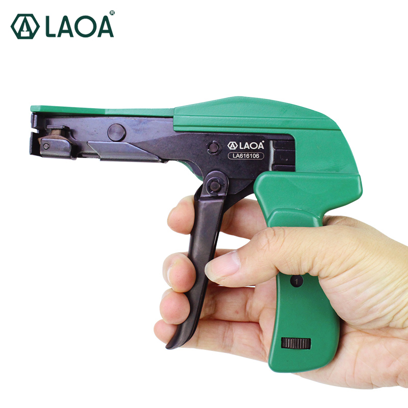 LAOA Fastening Cutting Tool Special Pliers for Cable Tie Gun For Nylon Cable Tie width 2.2mm to 4.8mm 10pcs fastening tool for cable tie wires stainless width 2 4 9mm