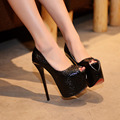 New Fashion Platform Pumps Patent leather Wedding Shoes 17CM High Heel Sexy Wedding Ceremony Pumps Party Prom Women Shoes