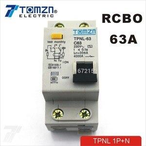 DPNL 1P + N 63A 230V ~ 50 HZ/60 HZ автоматический выключатель остаточного тока с защитой от перегрузки по току и утечки RCBO