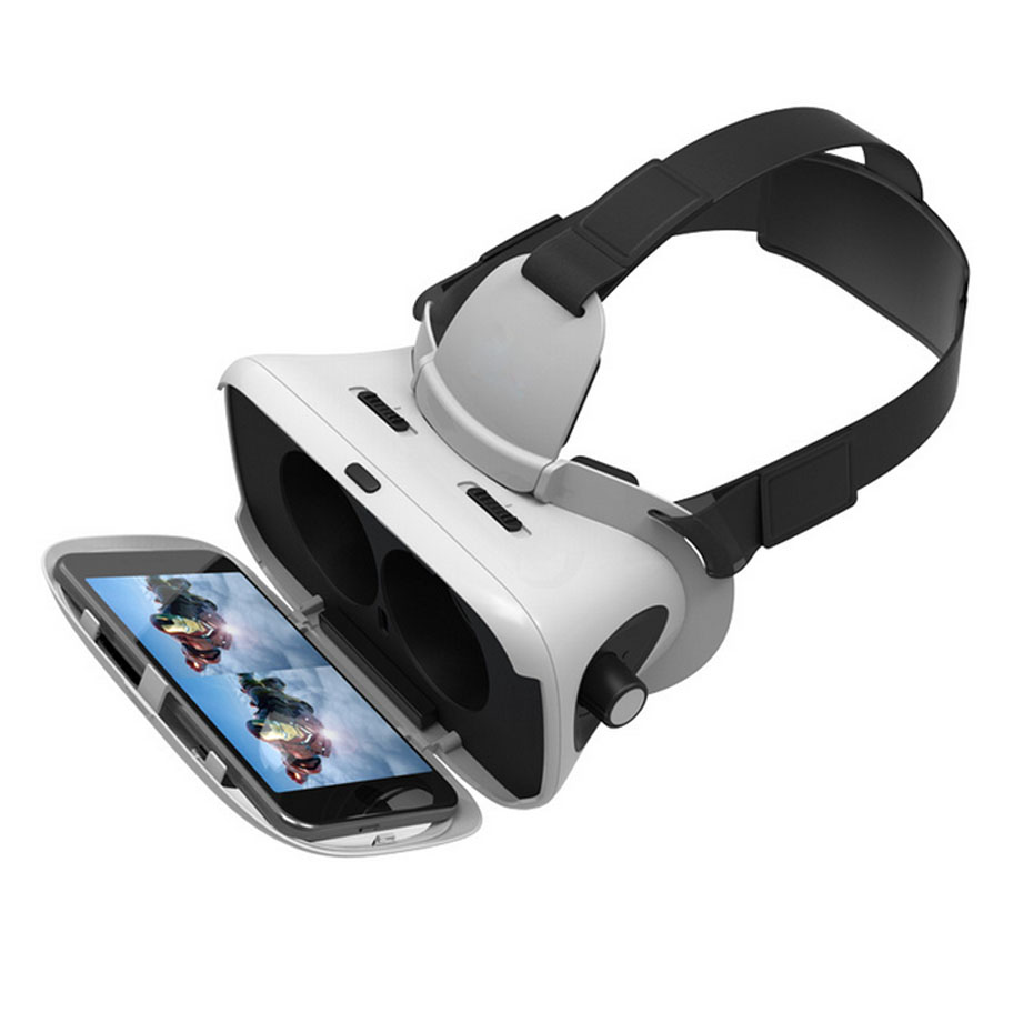 VR BOX 3D Glasses Headset VR Glasses Googles Cardboard Virtual Reality Goggles For Iphone Android Samsung 3.5 ~ 6.0″ Smartphone