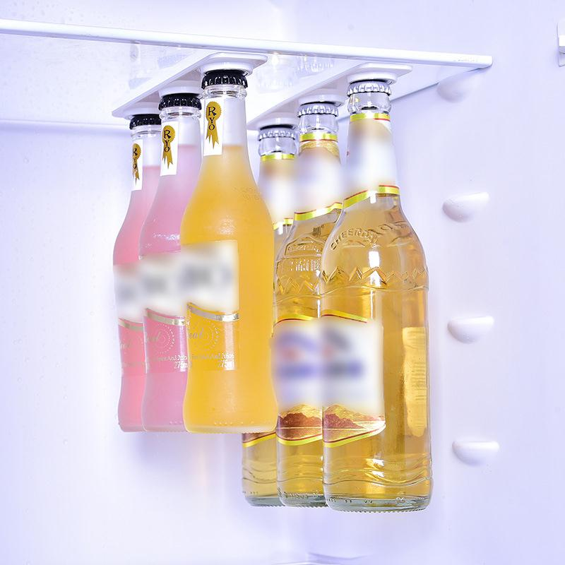 Creat Beer Bottle Hanger Magnetic Refrigerator Waterproof Storage Holder Storage Rack Kitchen Accessories