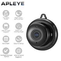 APLEYE Button 720P Q6 IP Camera Wifi Wireless Mini ONVIF Camera CCTV Security Indoor Night Vision