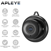 APLEYE Q6 Button 720P IP Camera Wifi Wireless Mini ONVIF Camera CCTV Security Indoor Night Vision