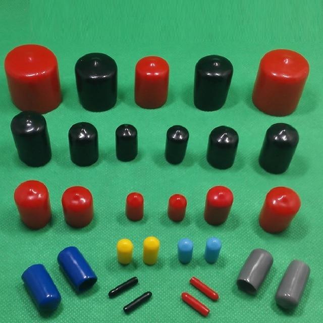 US $266 0 |1000 stks/partij 20mm lengte 45mm Plastic cable draad  waterdichte cover vinyl End cap PVC rubber staal pole buis pijp in 1000  stks/partij