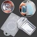 Hot Jelly Stamper 2.6cm Transparent Nail Stamping Stamp+Exquisite pattern rectangular scraper Polish Transfer DIY Nail art tool