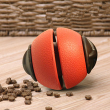 Dog Toy Rubber Ball Chew Dispenser Leakage Food Play Interactive Pet Dental Teething Training