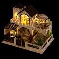 Деревянная кукла дом большой модели мебель игрушки кукольный миниатюрный DIY игрушки день рождения рождественский подарок