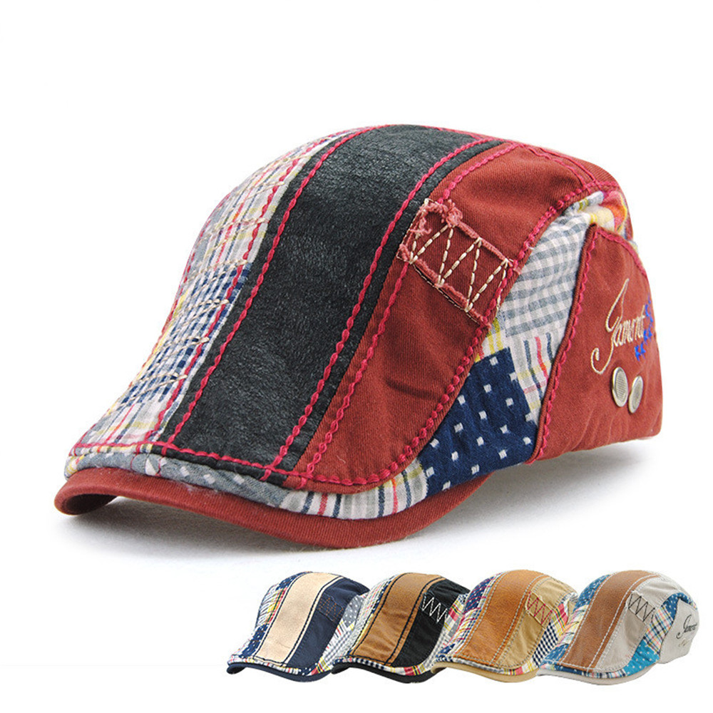 Casual Unisex Beret Hats Cotton Duckbill Casquette Boina Buckle Visors Golf Driving Flat Detective Hat Casquette Newsboy Cap