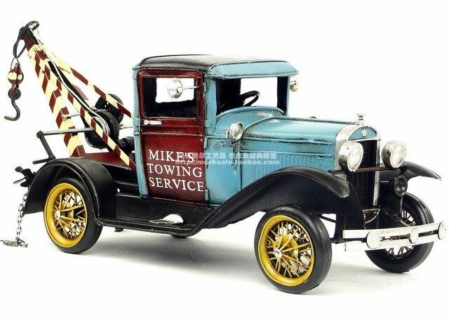coches clásicos, vintage estaño modelo de artesanía creativa adornos
