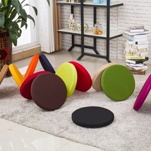Polyester Outdoor Rattan Chair Cushions Custom Made Thick Cloth Round  Waterproof Cushion Washable(China)