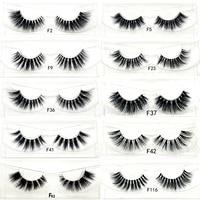 3D mink lashes wholesale 100pcs false eyelash cruelty free natural long hand made invisible band fake lash with fast shipping