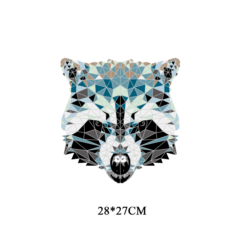 DIY Raccoon Heat Transfer Vinyl Patches for Clothes Fashion Accessory T shirt Iron on Patch Badges Appliques A level Washable in Patches from Home Garden