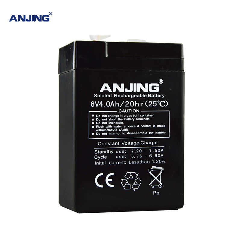 6 V 4AH батарея 6V4AH для резервного питания светодиодный аварийный свет детская игрушка машина свинцово-кислотный аккумулятор замена обслуживания