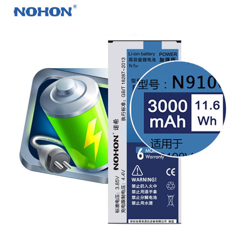 Original NOHON EB-BN916BBC Battery For Samsung Galaxy Note 4 Note4 N9100 N9109W N9108V High Capacity 3000mAh Retail Package     Original NOHON EB-BN916BBC Battery For Samsung Galaxy Note 4 Note4 N9100 N9109W N9108V High Capacity 3000mAh Retail Package