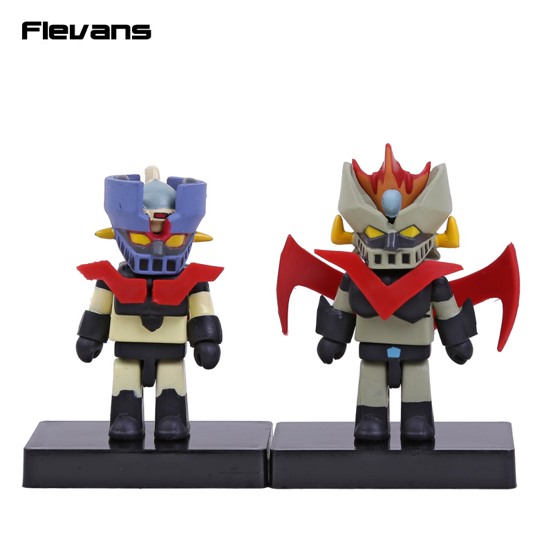 Anime Cartoon <font><b>Mazinger</b></font> <font><b>Z</b></font> Mini PVC Action <font><b>Figures</b></font> Collectible Toys 2-pack 8cm image