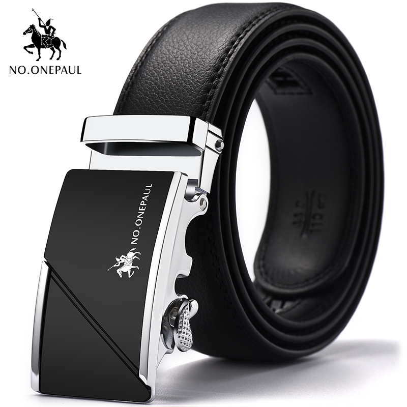 NO.ONEPAU Top Cowskin Manufacturing Men's Belt Designer New Design Jeans With Belt Metal Simple High Quality Automatic Buckle
