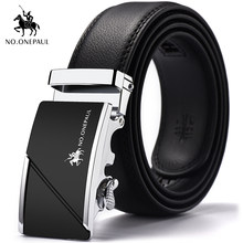 NO.ONEPAU Top Cowskin Manufacturing Men's Belt Designer New Design Jeans with Belt Metal simple High Quality Automatic Buckle(China)