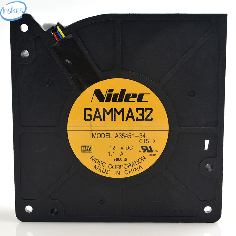 GAMMA32 A35451-34 4 Wires Switch Cooling Fan Drum Machine DC 12V 1.1A 12032 120*120*32mm 12CM парктроник parkmaster 4 dj 34 34 4 a white