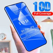 10D Protective Glass On The For For IPhone7 6 6s  8 Plus Screen Protective For IPhone X XS Max XR Tempered Glass