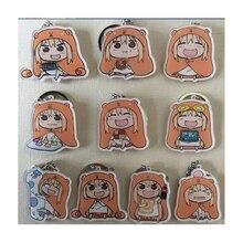 10pcs/set OTAKU Girls Himouto! Umaru-chan Doma Umaru Cloak Anime Umaru chan Doma Umaru Beloved Cola Potato Keychain Keyring