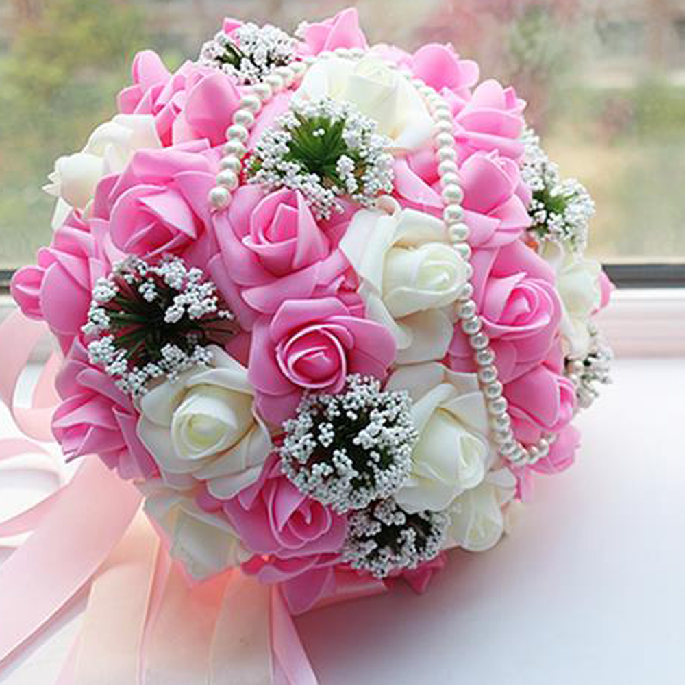 Korean Wedding Flowers: Bridal Bouquet Korean Wedding Wedding Supplies Simulation