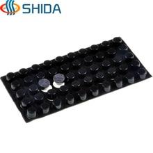 250 ADET 12mm x 7mm Siyah anti kayma Silika jel kauçuk plastik tampon damperi amortisör 3 M kendinden yapışkanlı Silikon ayak pedleri