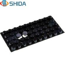 250 PCS 12mm x 7mm Black anti slip Silica gel rubber plastic bumper damper shock absorber 3M self adhesive Silicone feet pads