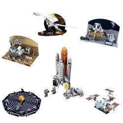 Crianças 3d modelo de papel puzzle diy brinquedo de montagem-sistema solar estação espacial ciência aprendizagem & educação brinquedos idade 8 + presente